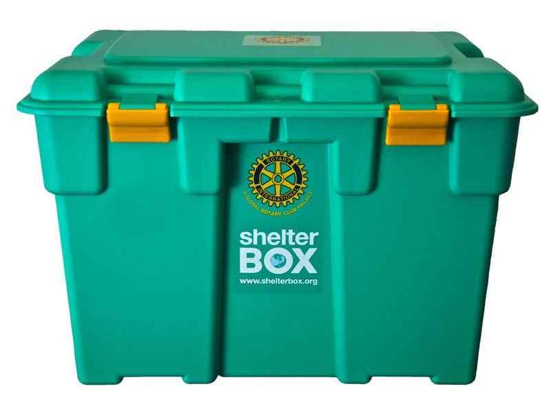 Old ShelterBox with rotary logo
