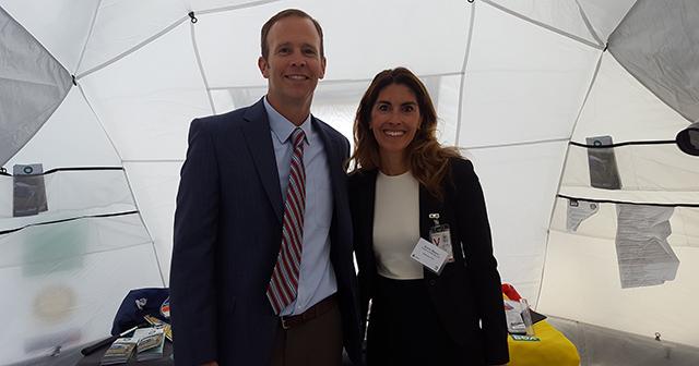 Brock Long, FEMA with Kerri Murray, ShelterBox USA