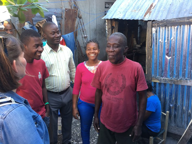 Marcel receives SHelterBox aid in Haiti