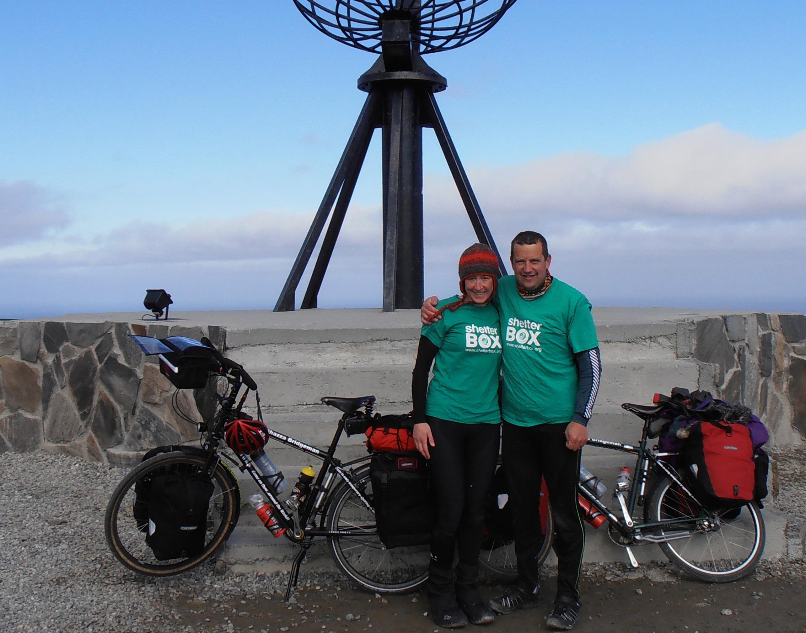 Tim and Sharon Bridgman start their journey in Norway