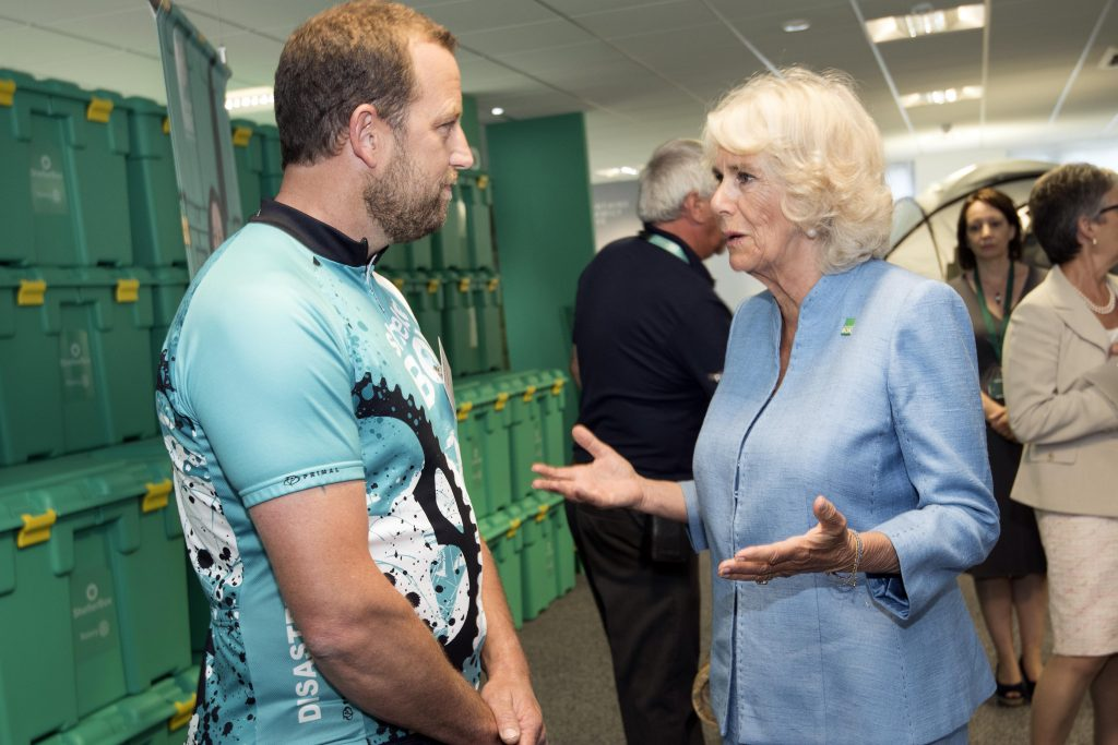 HRH - Meeting fundraising cyclist Tim Bridgman