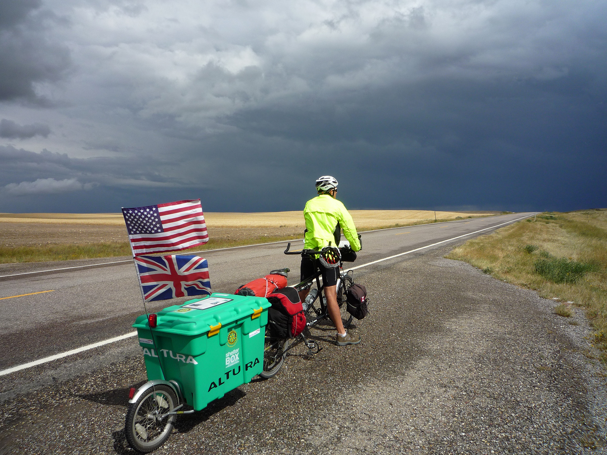 ShelterBox - Do Your Own Thing - Biking through Montana