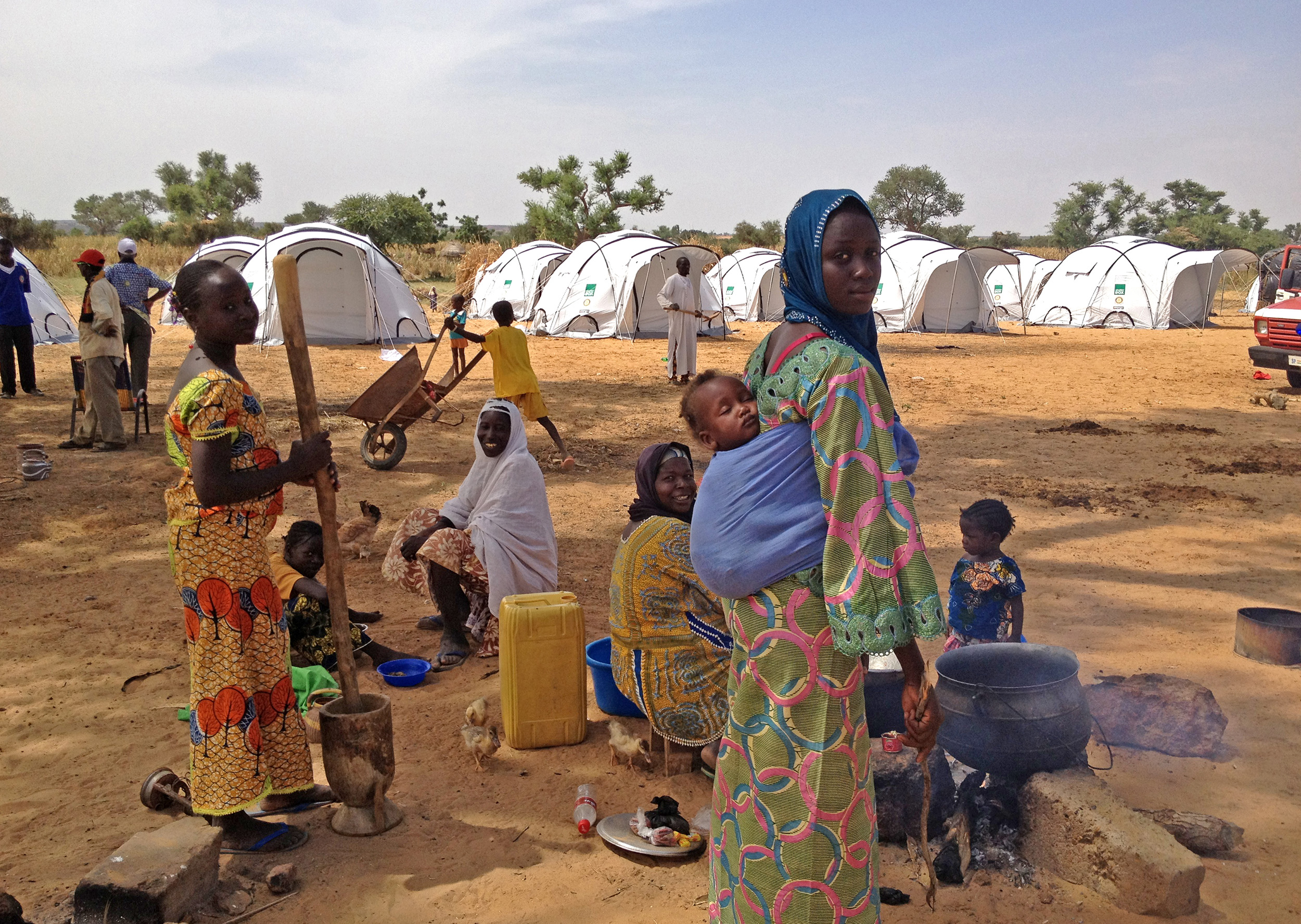 ShelterBox in Niger following extreme flooding that left thousands of families homeless.