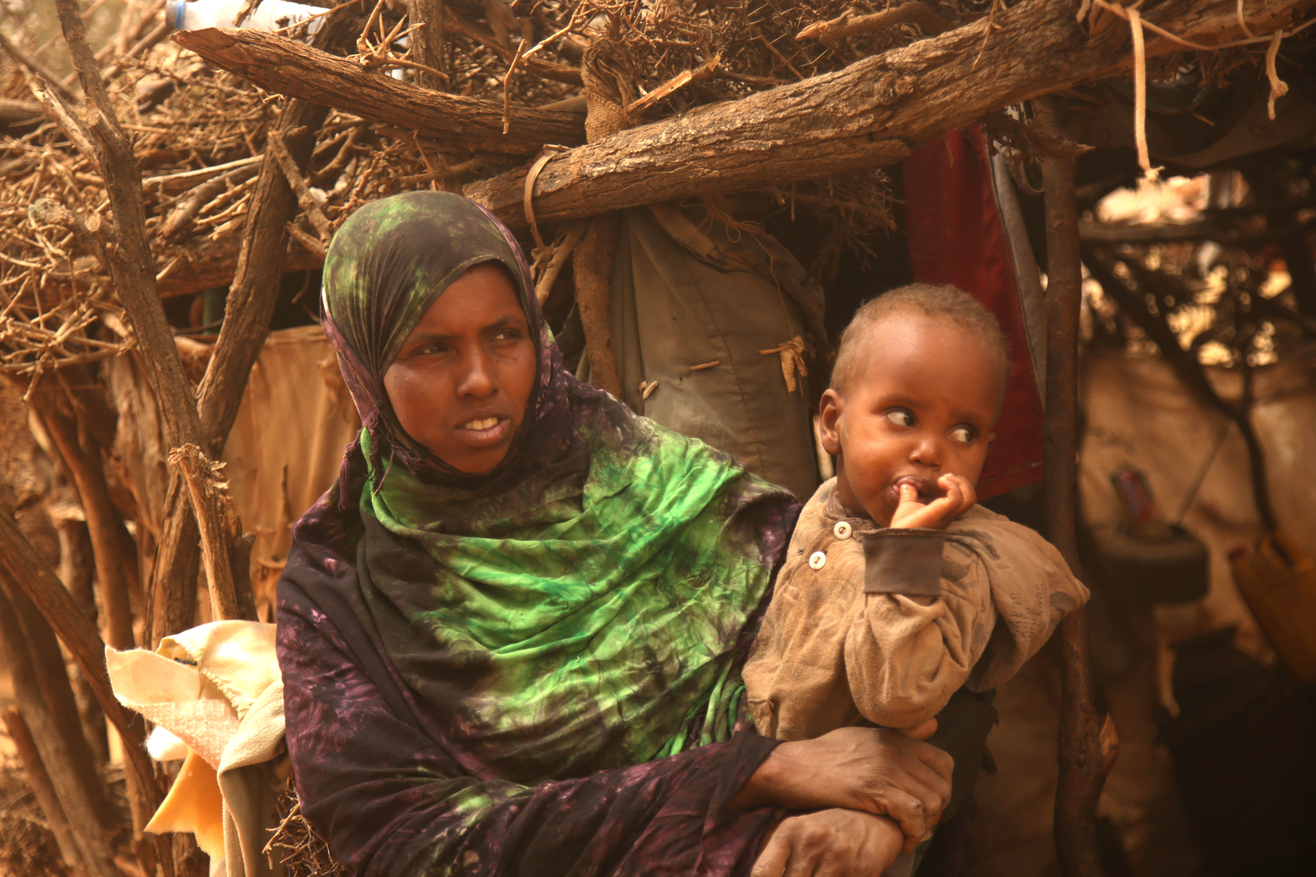 Somaliland Drought - mother and baby