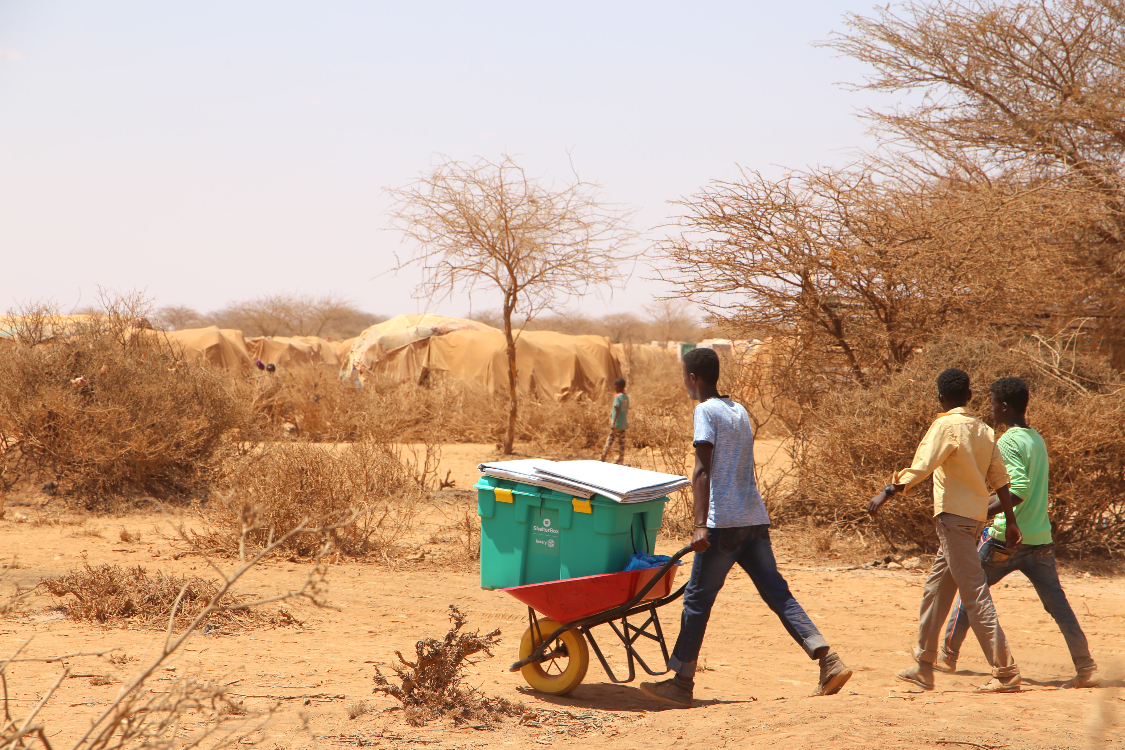 Somaliland Drought 2018 - family receives aid