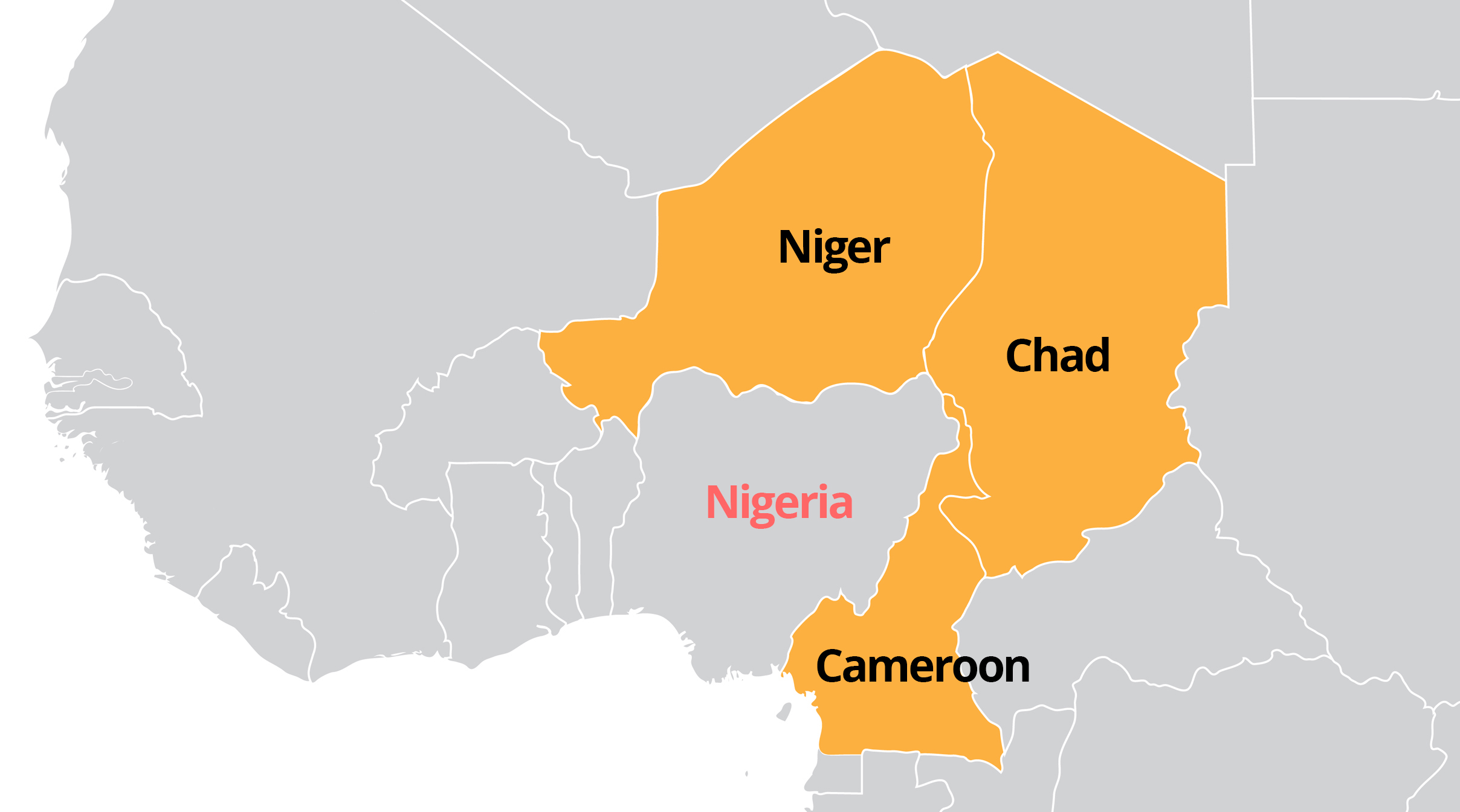ShelterBox USA - World Map: Lake Chad Basin