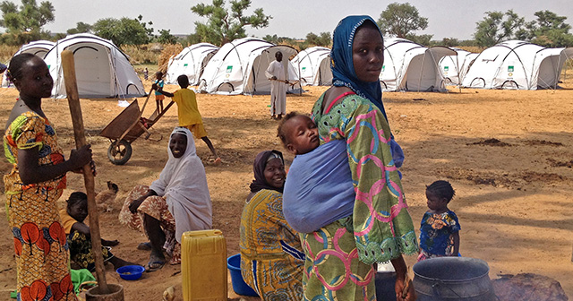 Women and Children at a camp in Niger