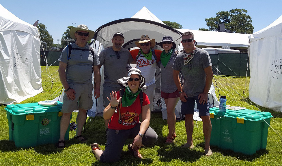 ShelterBox USA Bonnaroo Team 2018