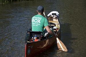 Erik Elsea kayaked the Mississippi for Shelter box