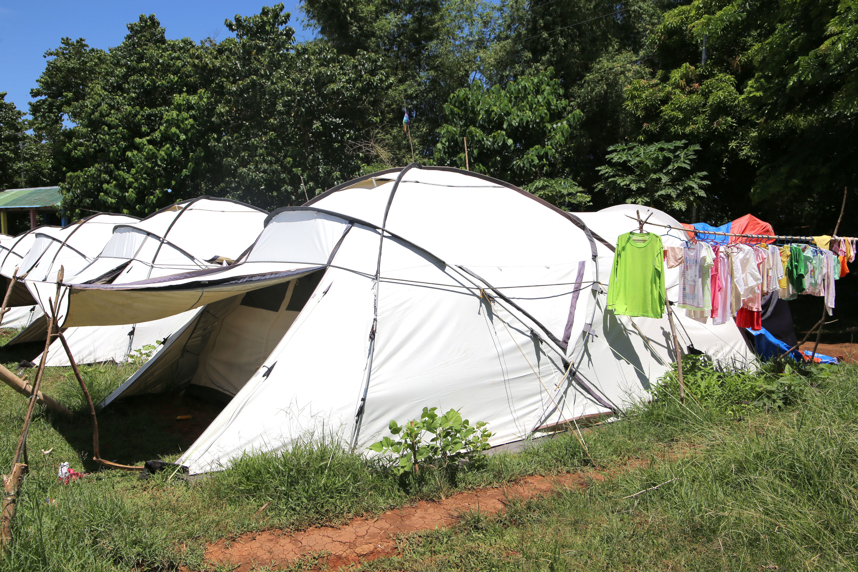 Jenny's Tent with clothesline