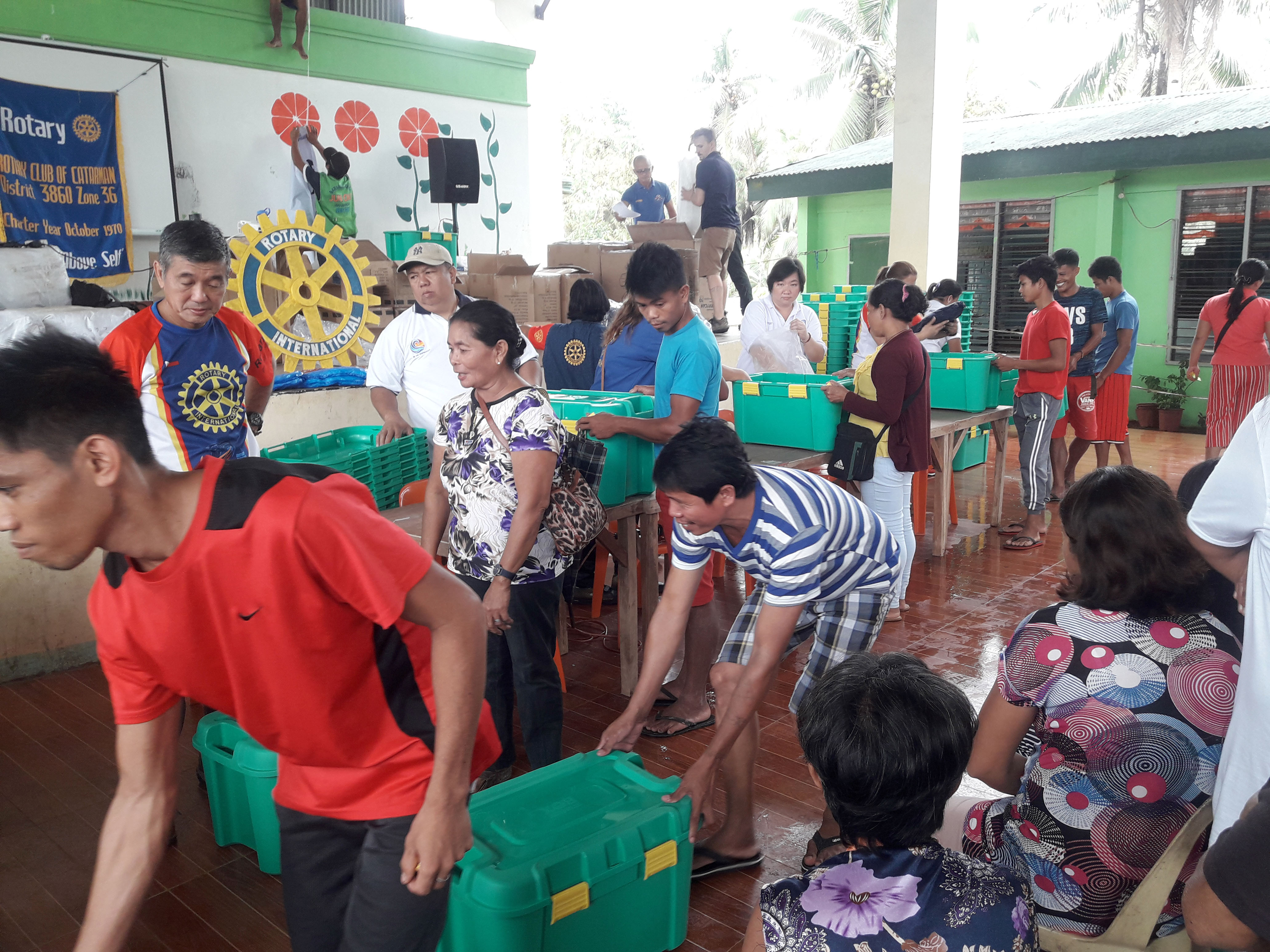 ShelterBox worked seamlessly with the local rotary chapter to distribute kits and aid items to everyone who comes to the facilities