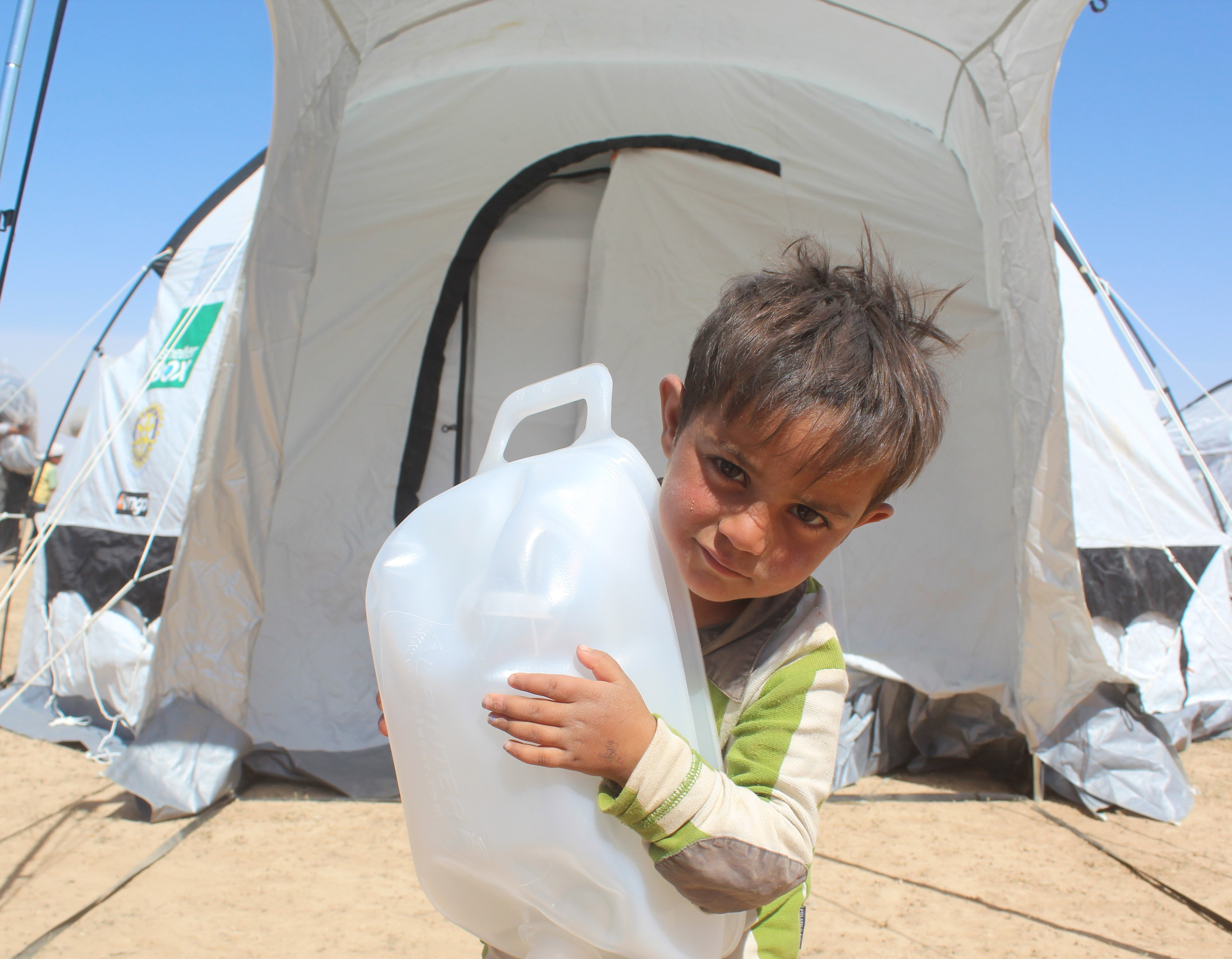 Child with Water filter