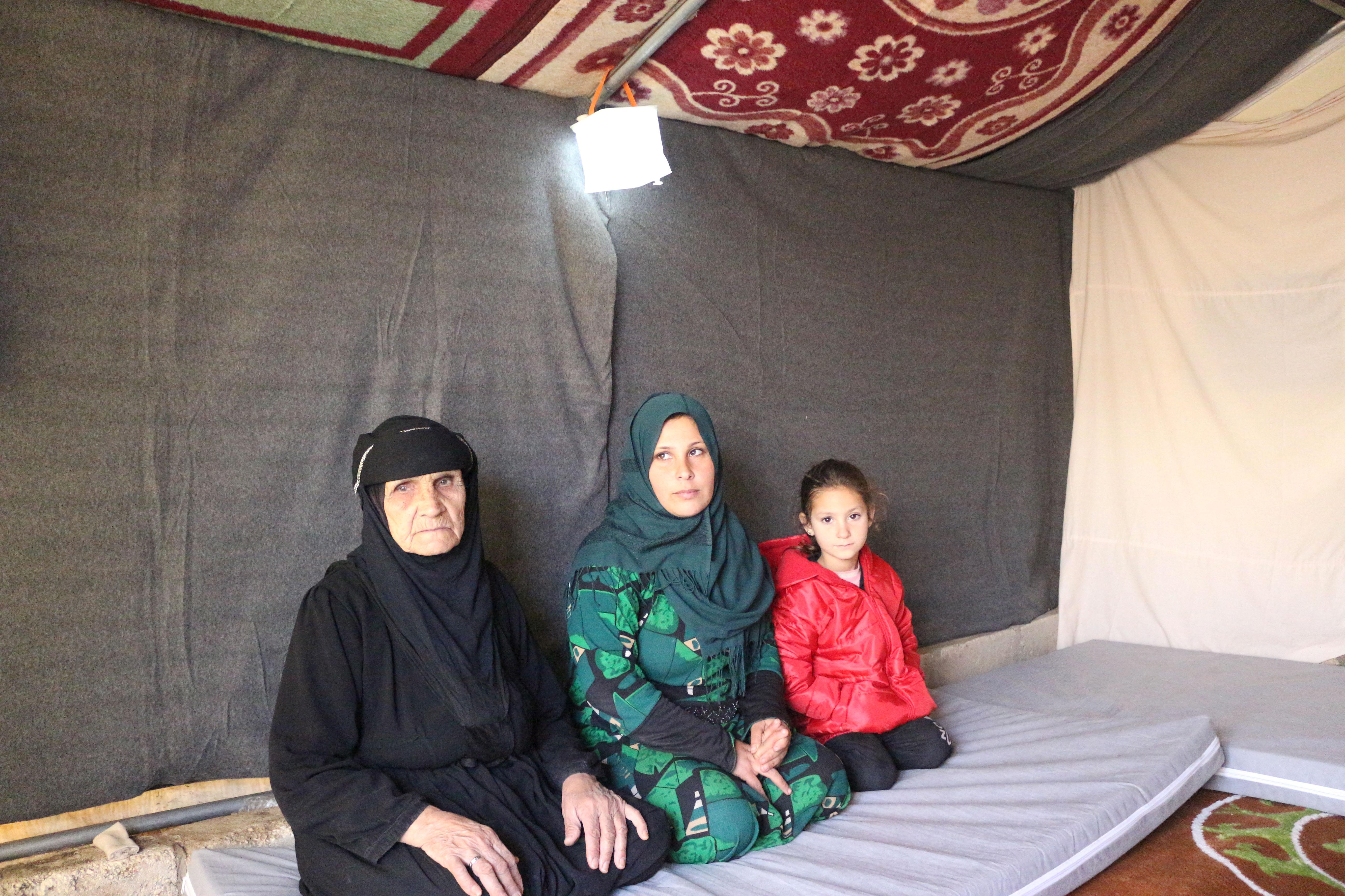Samira, Fatima, and her grandmother