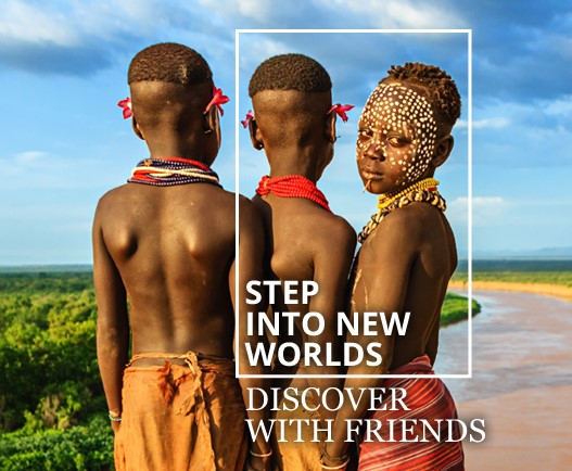 Step into new worlds. Discover with friends