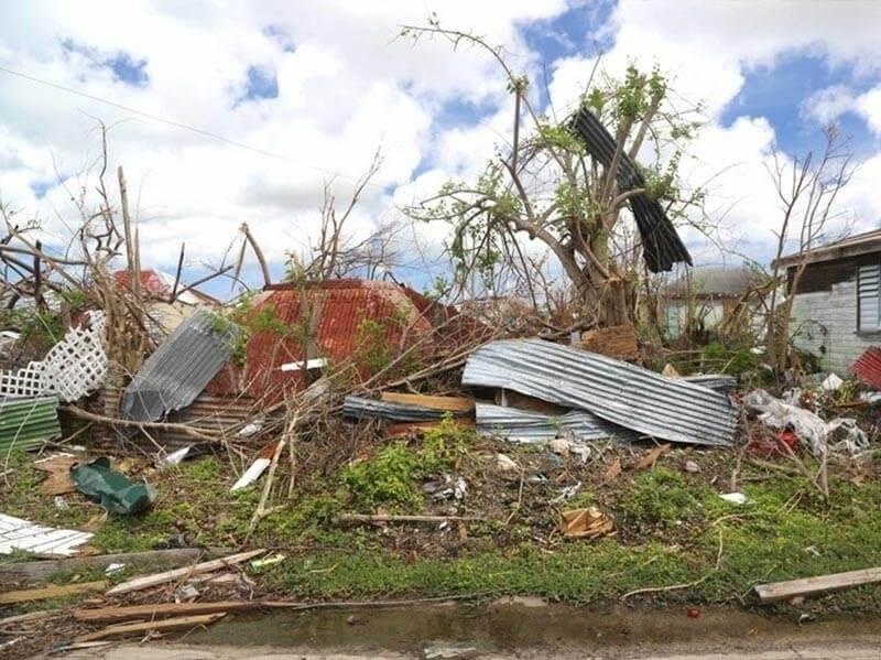 Destruction in Barbuda