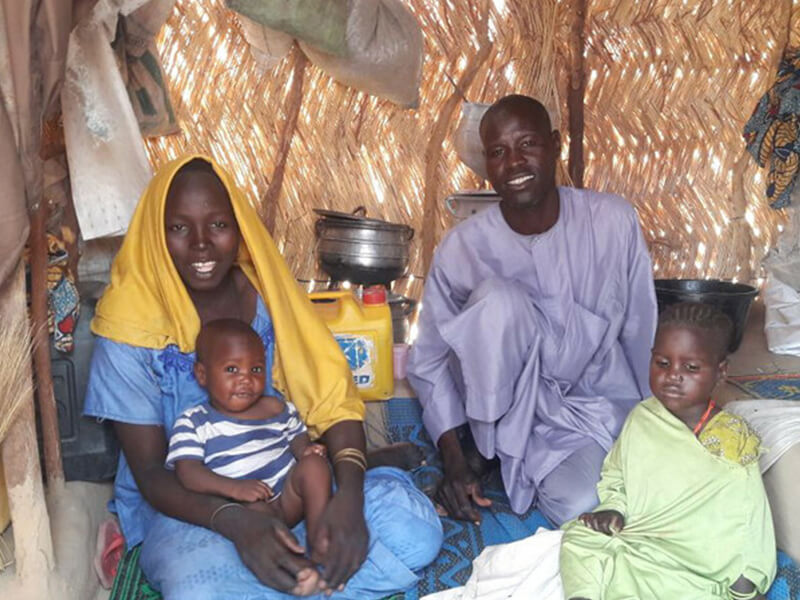 Khadija and her husband Jabar were forced to flee their village in Eastern Nigeria after armed men threatened everyone who lived there.