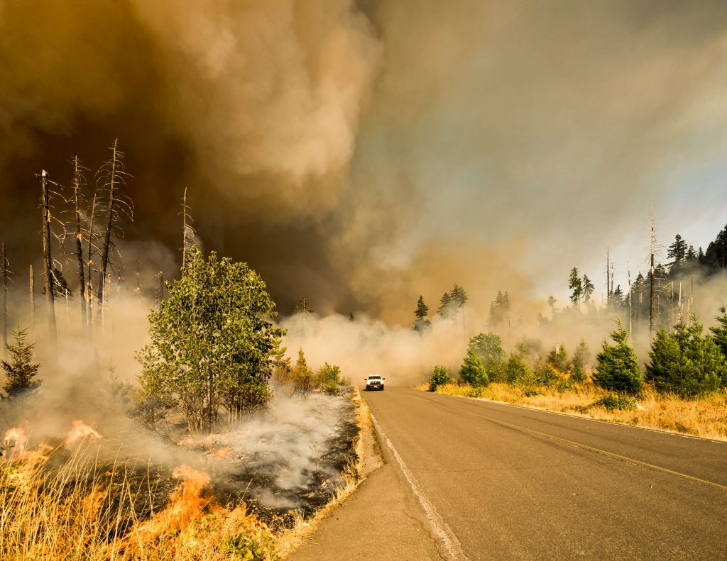 Escaping the smoke via highway
