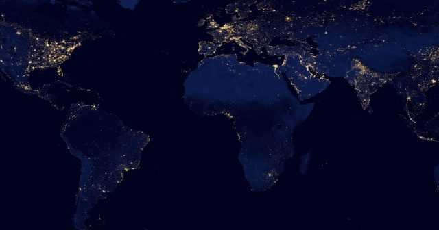 Bright lights of the world from space