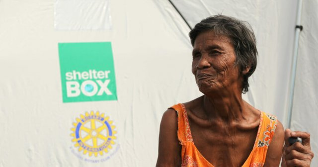 Filipino Woman in Tent