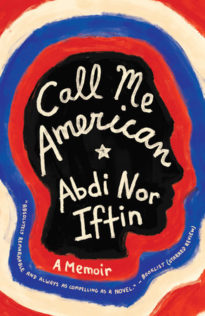 Call Me American cover showing red white blue and black profiles of a man's head