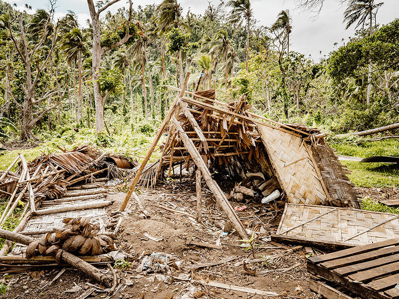 Home destroyed by Cyclone Harold