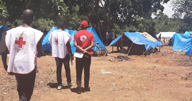 Red Cross workers observe living conditions