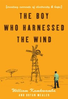 The Boy Who Harnessed the Wind Cover showing boy looking at windmill
