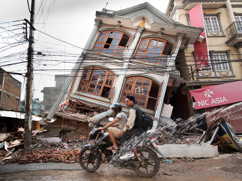 Nepal Building After Earthquake