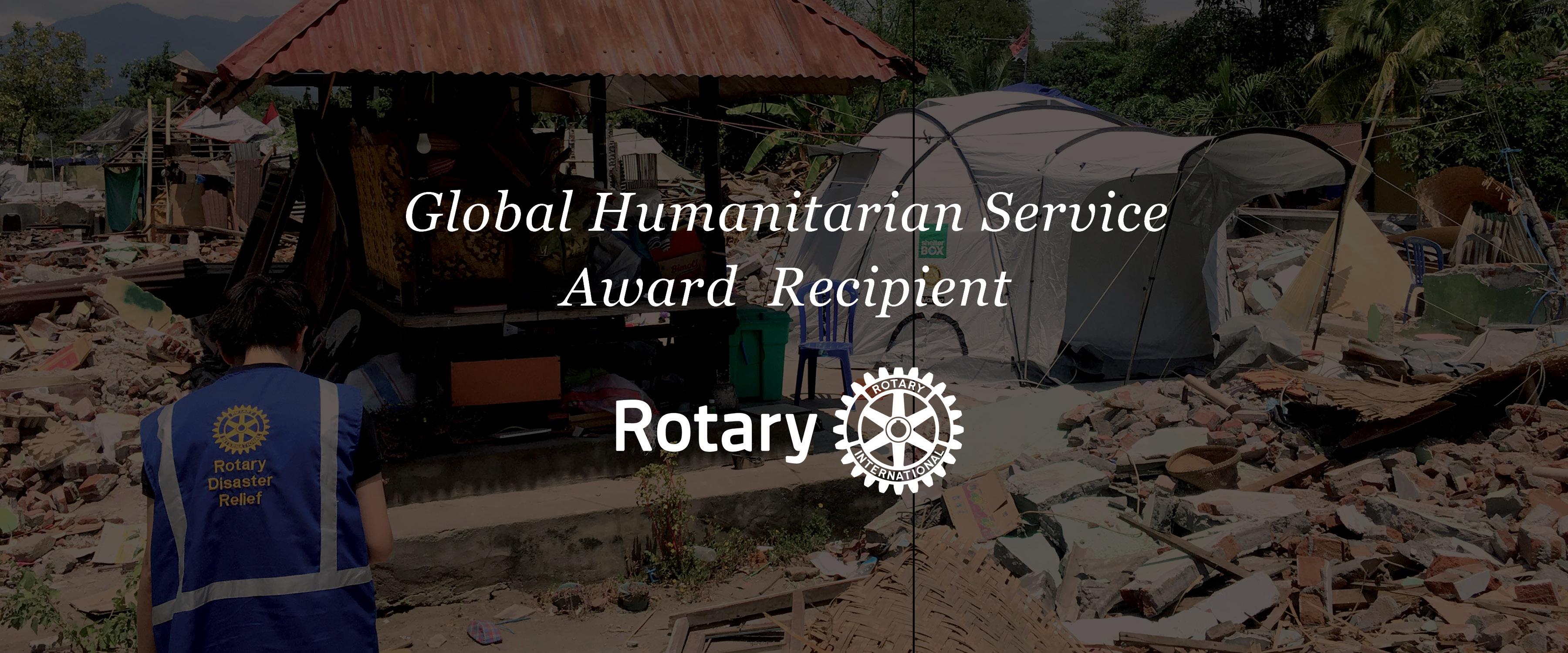 Global Humanitarian Service Award Recipient
