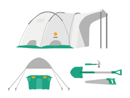 Tents and tools