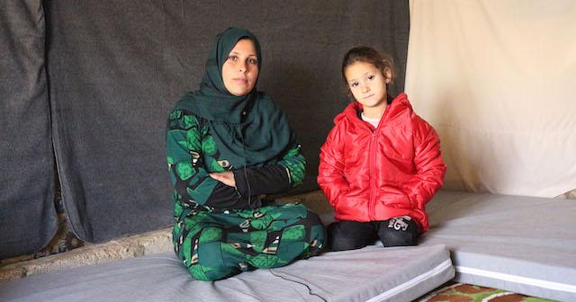 Fatima and her mother Samira