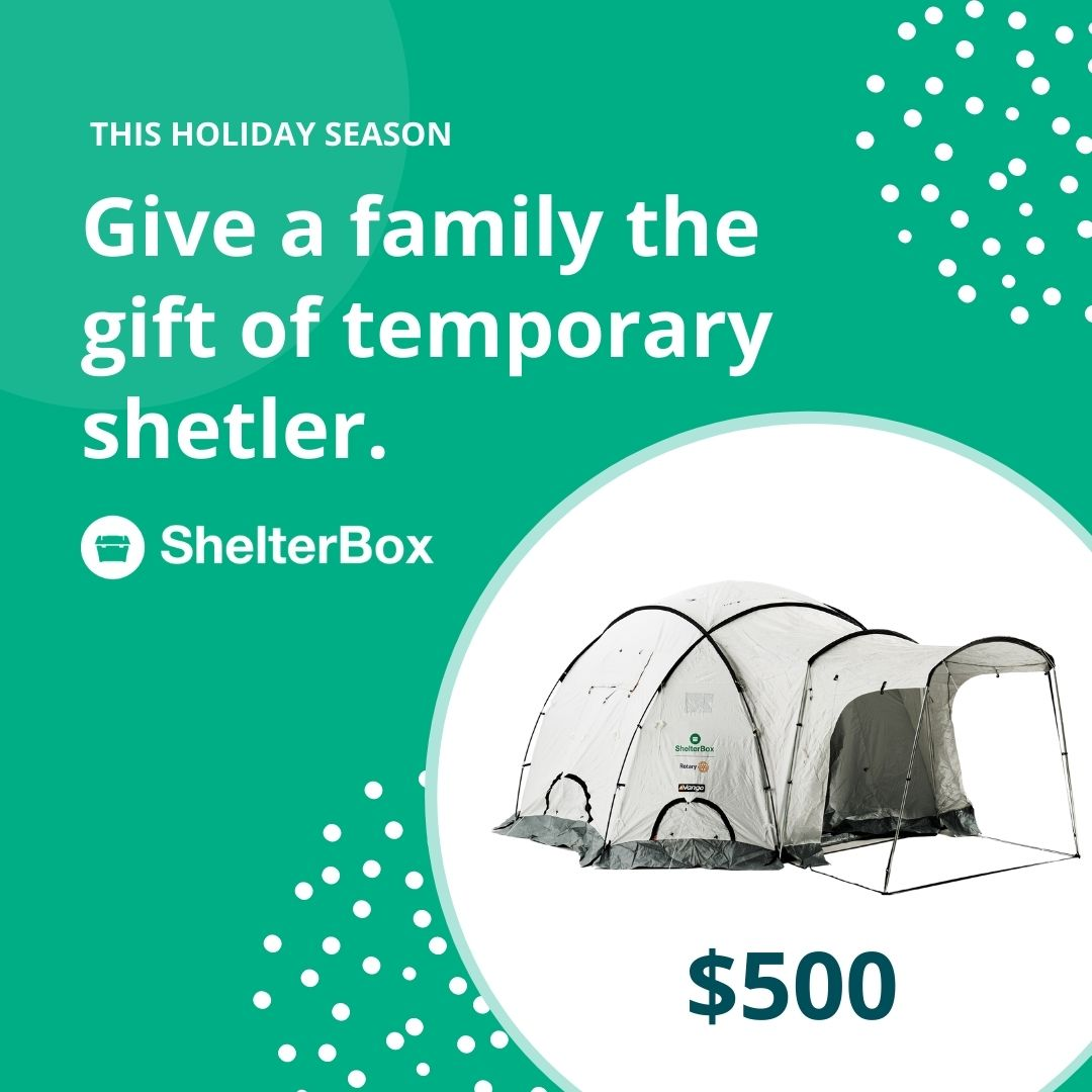 Give a tent $500