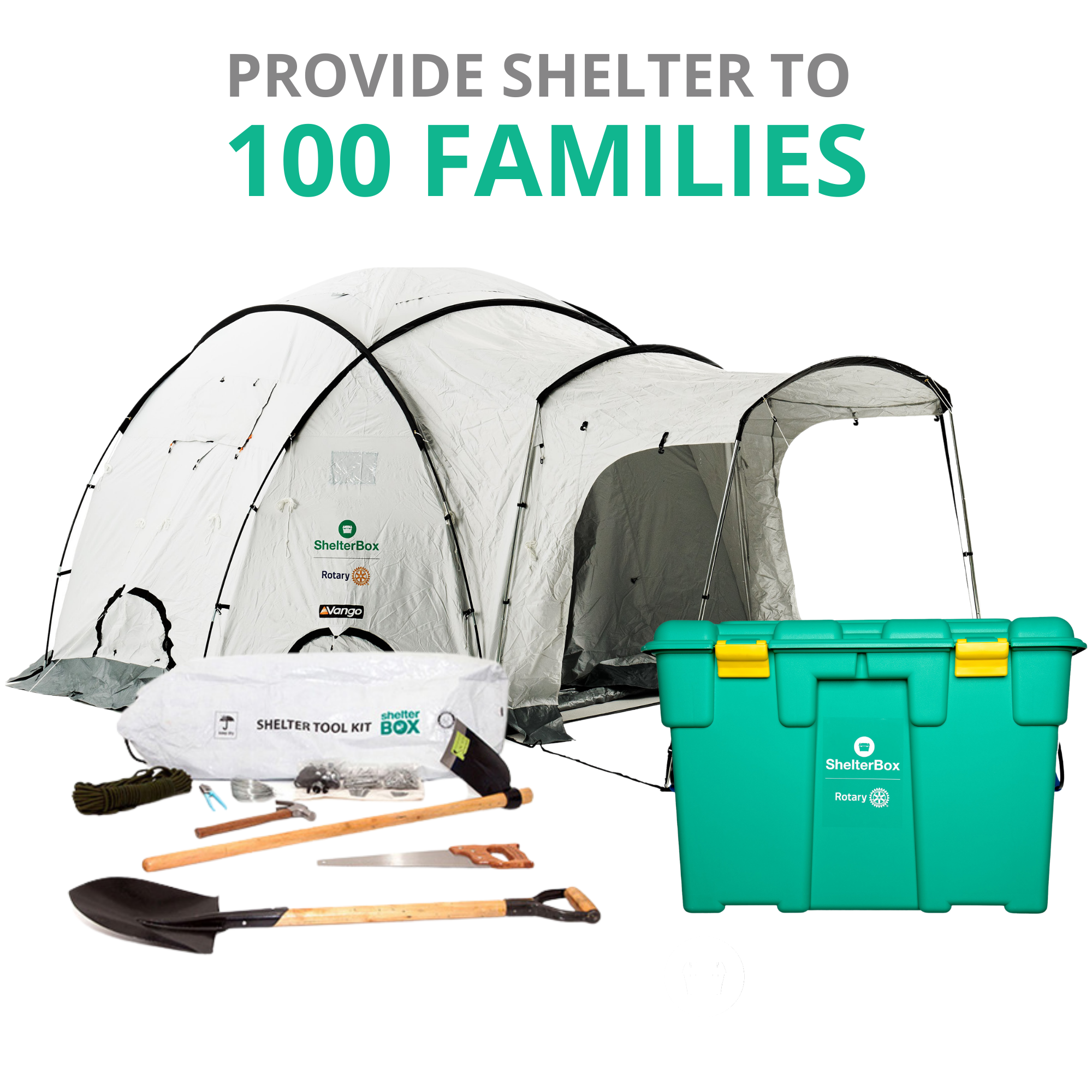 Provide Shelter to 100 families