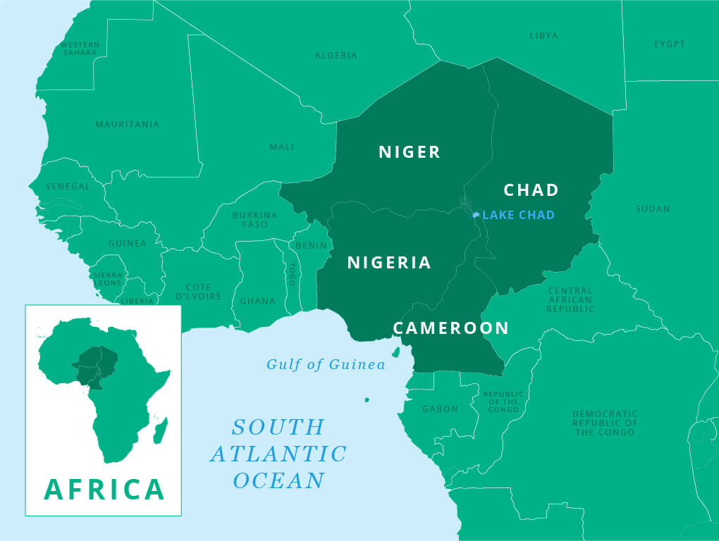 Lake Chad Map West Africa